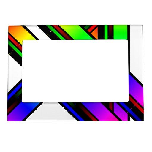 rainbow color frame magnet