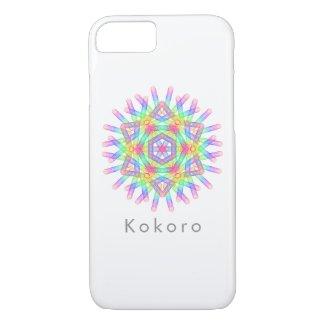 Rainbow color geometric figure like snow crystal iPhone 8/7 case