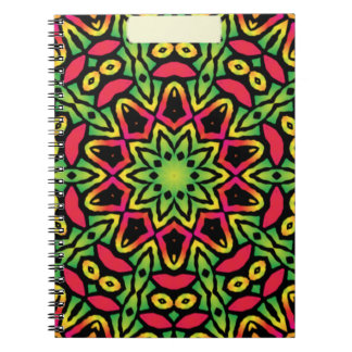rainbow color kaleidoscope pattern Notebook