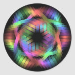 Rainbow color light classic round sticker