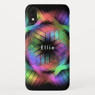 Rainbow color light iPhone XR case