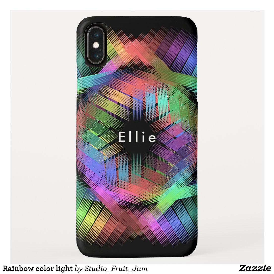 Rainbow color light iPhone XS max case