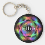 Rainbow color light keychain