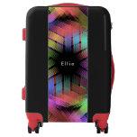 Rainbow color light luggage