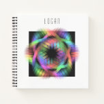 Rainbow color light notebook