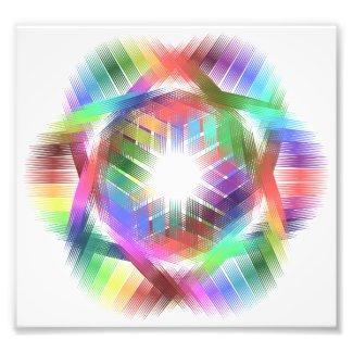 Rainbow color light photo print
