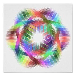 Rainbow color light poster