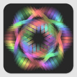 Rainbow color light square sticker