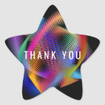 Rainbow color light star sticker