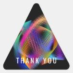 Rainbow color light triangle sticker