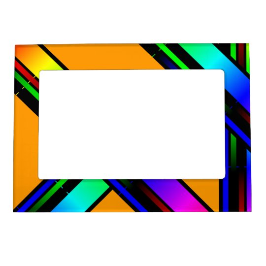 rainbow color magnetic photo frame