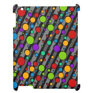 Rainbow Color Polka Dots and Stripes iPad Mini Case