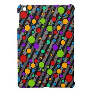 Rainbow Color Polka Dots and Stripes iPad Mini Covers