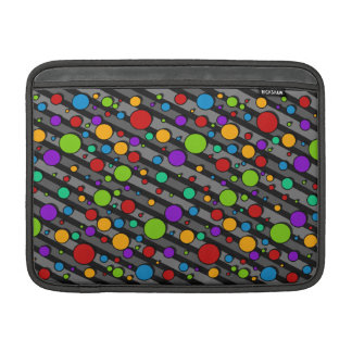 Rainbow Color Polka Dots and Stripes MacBook Sleeve