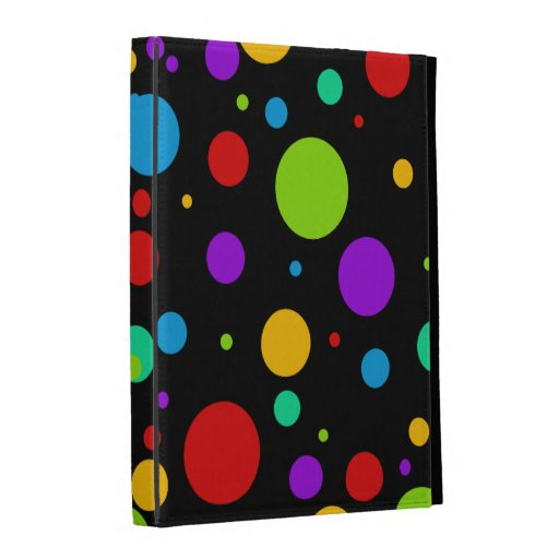 Rainbow Color Polka Dots iPad Folio Cover