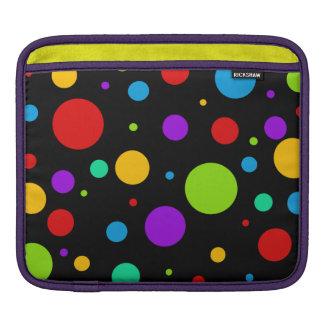 Rainbow Color Polka Dots iPad Sleeve