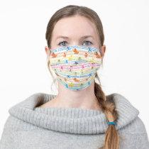 Rainbow Color Sesame Pals Pattern Adult Cloth Face Mask