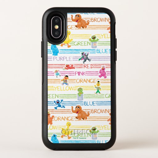 Rainbow Color Sesame Pals Pattern OtterBox Symmetry iPhone X Case