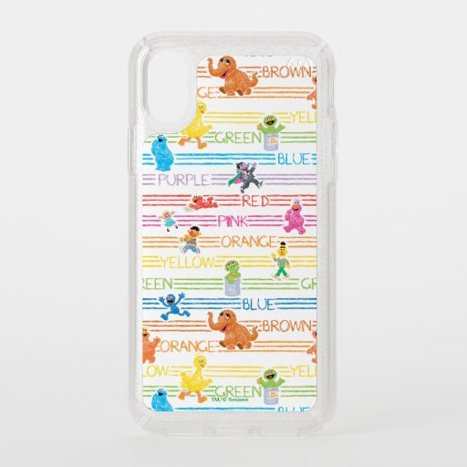 Rainbow Color Sesame Pals Pattern Speck iPhone X Case