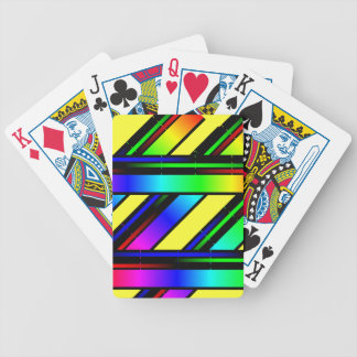 rainbow color spectrum bicycle playing cards
