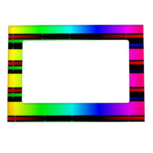 rainbow color spectrum magnetic picture frames | Zazzle