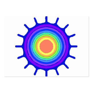 Rainbow color splatter business card template