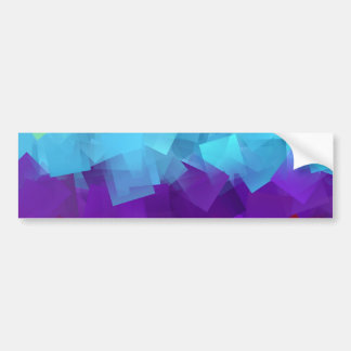 Rainbow color squares intermingle design bumper sticker