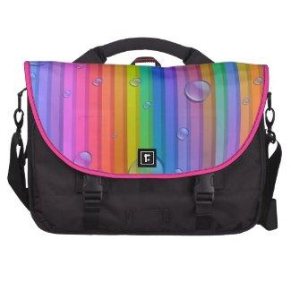 Rainbow Color Stripe Laptop Bag