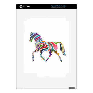 Rainbow Color-Striped Horse iPad 2 Decals