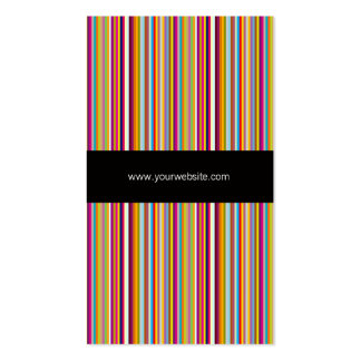 Rainbow Color Striped Template Business Card