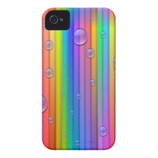 Rainbow Color Stripes iPhone 4 Case