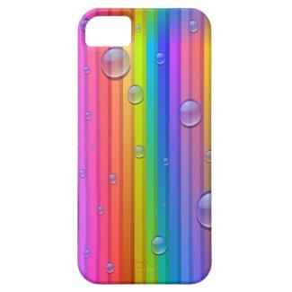 Rainbow Color Stripes iPhone 5 Case