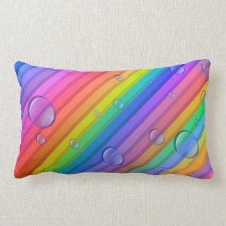 Rainbow Color Stripes Pillow