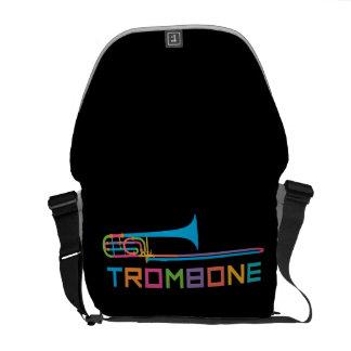 Rainbow Color Trombone Courier Bag