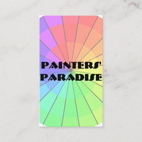 Rainbow Color Wheel Art Classes Shop Business Card Zazzle Com