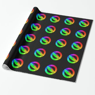 Rainbow Color Wheels PRIDE Diversity Giftwrap Wrapping Paper
