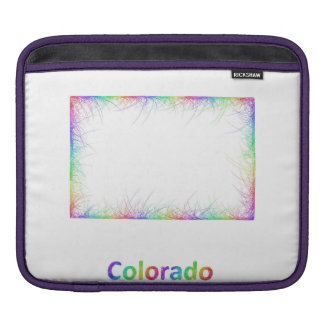 Rainbow Colorado map iPad Sleeve