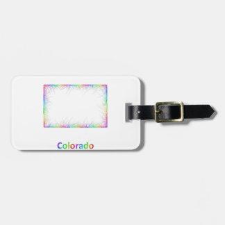 Rainbow Colorado map Luggage Tag