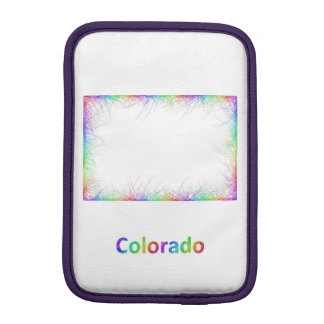 Rainbow Colorado map Sleeve For iPad Mini