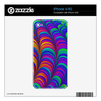 Rainbow colored 3D abstract art iPhone 4S Skins