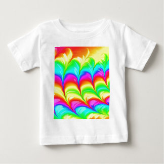 Rainbow colored 3D abstract pattern Baby T-Shirt