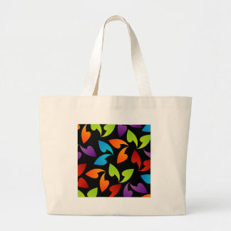 rainbow colored background with leaves bags