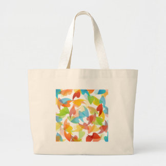 rainbow colored background with leaves tote bags