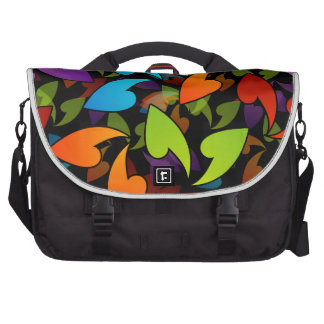 rainbow colored background with leaves laptop bags