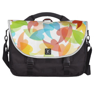 rainbow colored background with leaves bags for laptop