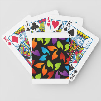 rainbow colored background with leaves bicycle card deck