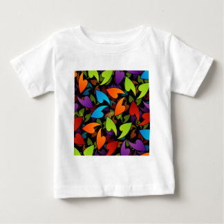 rainbow colored background with leaves tees
