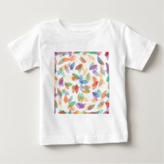 rainbow colored background with leaves tee shirt