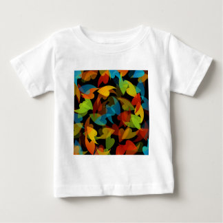 rainbow colored background with leaves tee shirts