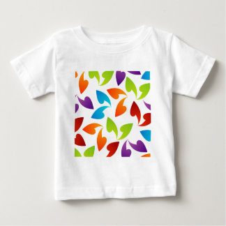 rainbow colored background with leaves t-shirts